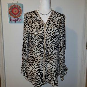 Guess women's leopard print blouse
